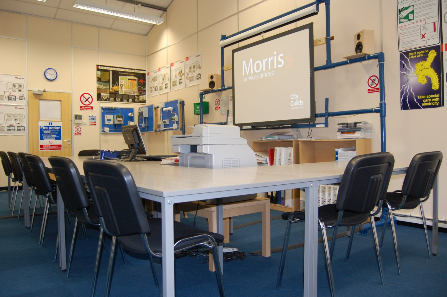 electrical training classroom at morris services ltd