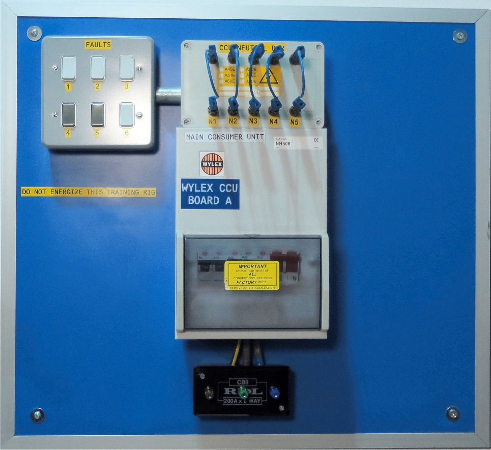 Wylex Insulation Resistance Board used for training at morris services limited