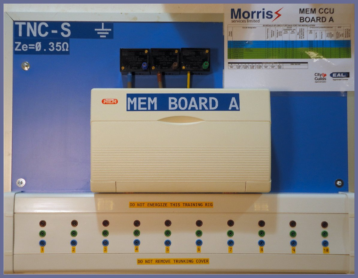 R1+R2 testing on MEM Board A at Morris Services Limited