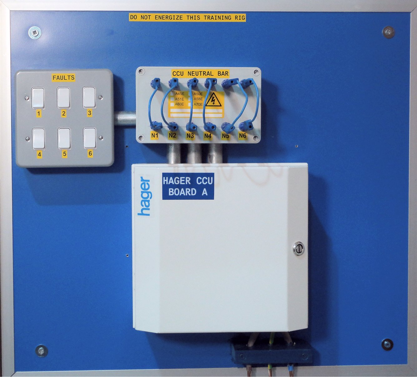 Hager Insulation Resistance Board used for training at Morris Services Ltd